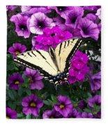 Tiger  Swallowtail Butterfly Fleece Blanket