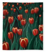 Tulip Festival Fleece Blanket