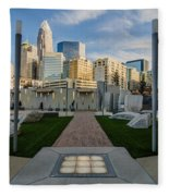View Of Charlotte Skyline Fleece Blanket