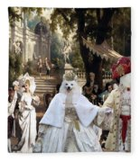Volpino Italiano Art Canvas Print Fleece Blanket
