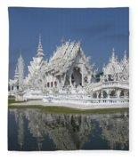 Wat Rong Khun Ubosot Dthcr0002 Fleece Blanket
