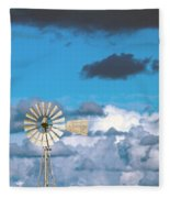Water Windmill Fleece Blanket