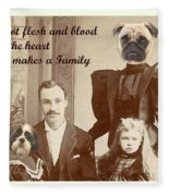 We Are Family Fleece Blanket