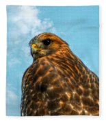 What Are You Looking At Red Shoulder Hawk Fleece Blanket