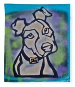 White Dog Fleece Blanket