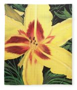 Yellow Lily Fleece Blanket