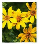 Yellow Texas Wildflowers Fleece Blanket