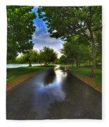 001 After The Rain At Hoyt Lake Fleece Blanket