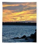 001 Awe In One Sunset Series At Erie Basin Marina Fleece Blanket