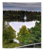 001 Hoyt Lake Autumn 2013 Fleece Blanket
