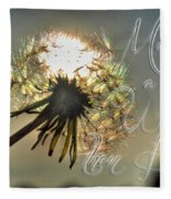 001 Make A Wish At Sunset With Text Fleece Blanket