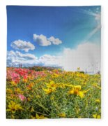 001 Niagara Falls Misty Blue Series Fleece Blanket