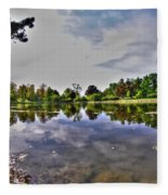 001 Reflecting At Forest Lawn Fleece Blanket