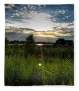 001 Setting Sun At Deyowenoguhdoh  Fleece Blanket