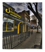 001 Sidelines Sports Bar And Grill Fleece Blanket