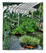 001 Within The Rain Forest Buffalo Botanical Gardens Series Fleece Blanket