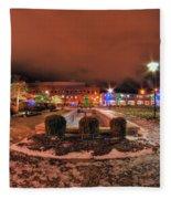 0010 Christmas Light Show At Roswell Series Fleece Blanket