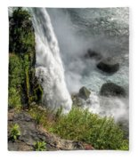 0010 Niagara Falls Misty Blue Series Fleece Blanket