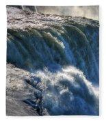 0010 Niagara Falls Winter Wonderland Series Fleece Blanket
