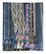 0010 Radio City Music Hall Fleece Blanket