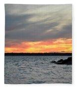 0011 Awe In One Sunset Series At Erie Basin Marina Fleece Blanket