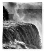 0011a Niagara Falls Winter Wonderland Series Fleece Blanket