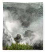 0012 Niagara Falls Misty Blue Series Fleece Blanket