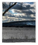 0013 Grand Island Bridge Series Fleece Blanket