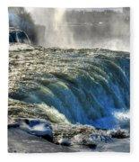 0013 Niagara Falls Winter Wonderland Series Fleece Blanket