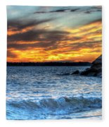 0015 Awe In One Sunset Series At Erie Basin Marina Fleece Blanket