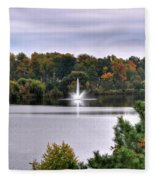 0015 Hoyt Lake Autumn 2013 Fleece Blanket