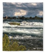 0015 Niagara Falls Misty Blue Series Fleece Blanket