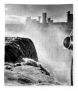 0016a Niagara Falls Winter Wonderland Series Fleece Blanket