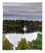 0018 Hoyt Lake Autumn 2013 Fleece Blanket