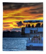 0019 Awe In One Sunset Series At Erie Basin Marina Fleece Blanket