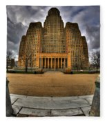 0019 City Hall From Within The Square Fleece Blanket