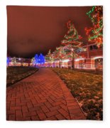 002 Christmas Light Show At Roswell Series Fleece Blanket
