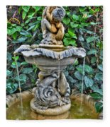 002 Fountain Buffalo Botanical Gardens Series Fleece Blanket