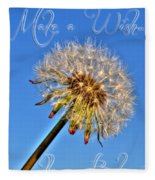 002 Make A Wish With Text Fleece Blanket