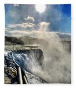 002 Niagara Falls Winter Wonderland Series Fleece Blanket