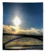 002 Peace Bridge In Passing  Fleece Blanket