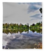 002 Reflecting At Forest Lawn Fleece Blanket