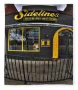 002 Sidelines Sports Bar And Grill Fleece Blanket