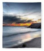 0020 Awe In One Sunset Series At Erie Basin Marina Fleece Blanket