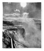 002a Niagara Falls Winter Wonderland Series Fleece Blanket