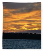 003 Awe In One Sunset Series At Erie Basin Marina Fleece Blanket