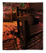 003 Christmas Light Show At Roswell Series Fleece Blanket