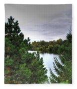 003 Hoyt Lake Autumn 2013 Fleece Blanket