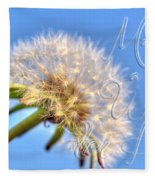 003 Make A Wish With Text Fleece Blanket