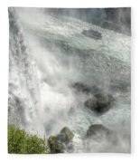 003 Niagara Falls Misty Blue Series Fleece Blanket